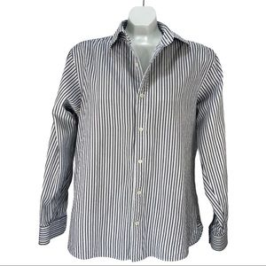 Michael Kors Striped Long Sleeve Button Down Shirt